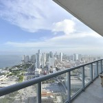 View from the balcony at Marina Blue in downtown Miami