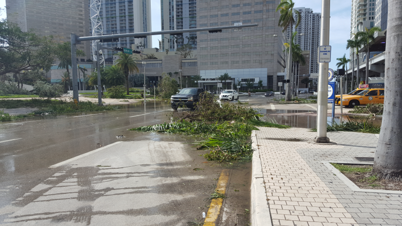 Hurricane Irma Downtown Miami Central Business District