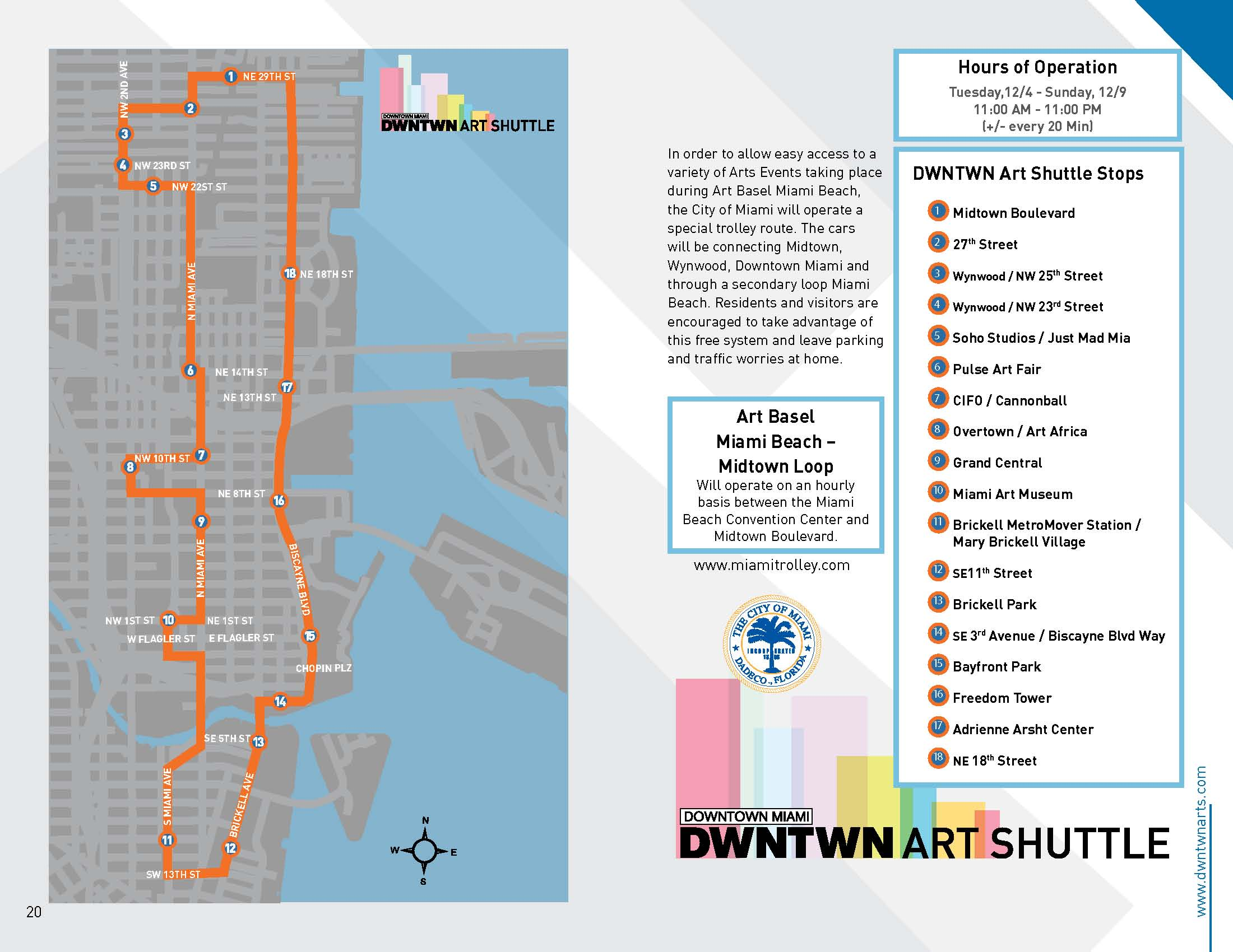 expanded trolley routes for art week in downtown miami