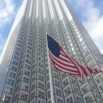 US Flag at Southeast Financial Center in Miami