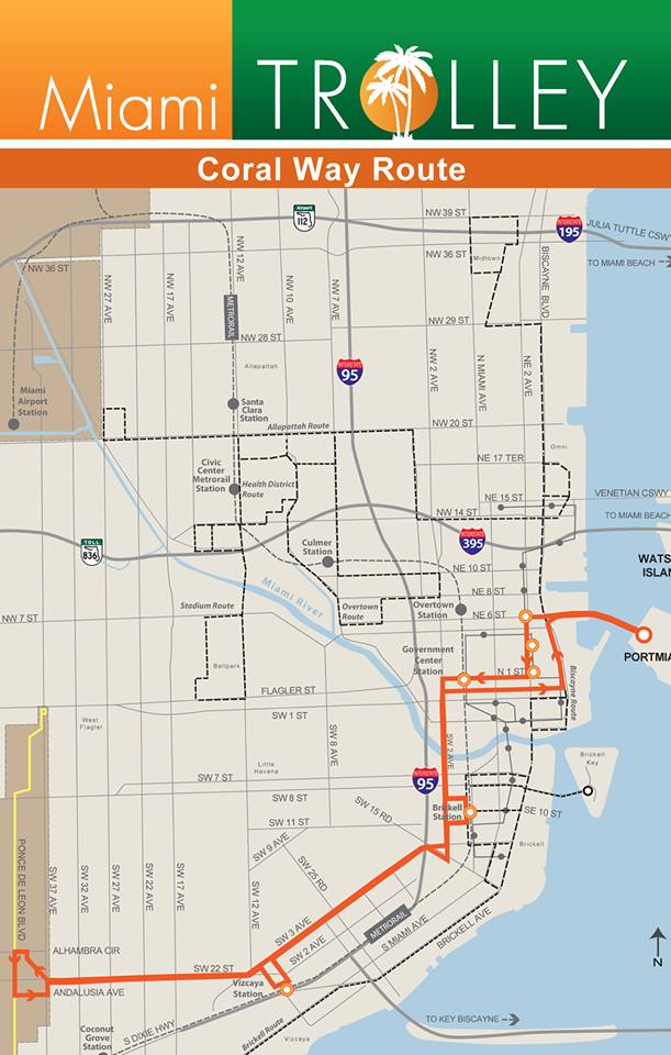 Trolley-Coral Way Map