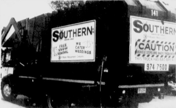 "Southern Sanitation Inc., was known for its  ""Free Snow Removal"" signs on its garbage trucks. On January 19, 1977 they received hundreds of joke calls requesting snow removal service."