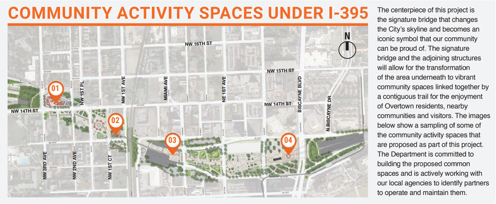 map of community activity spaces in I-395 project