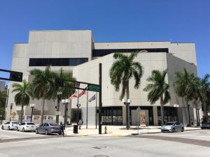 Exterior of Miami Dade College Wolfson Campus Building 1000
