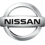 Nissan Motor Company logo - filming commercial in downtown Miami
