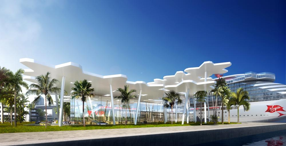 """Rendering showing """"palm tree"""" roof"""